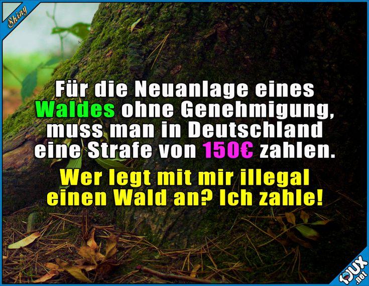 Das ist es mir wert! :)  #Deutschland #Gesetz #lustig #Wald #Umwelt #Humor #lustigeSprüche