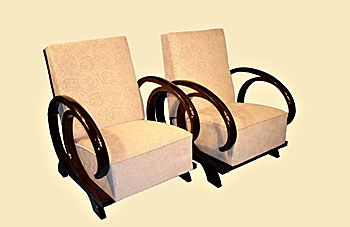 Armchairs with special armrest