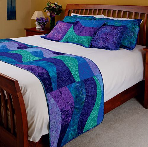 "Beautiful bed runner from ""Make Your Bed""  by Leslee Evans"