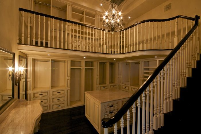 Another two story closet.