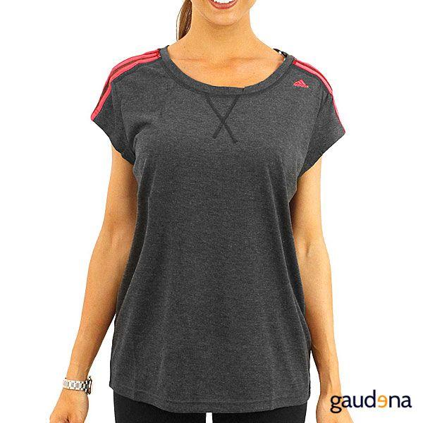 Lo mejor de Adidas para ella lo encuentras solo en gaudena.com #Adidas #Deportes #ModaDeportiva #Ejercicio #Sport #Mujer #Tshirt #Fitness #Playera #Gris #Gray #Grey #Black #Negro