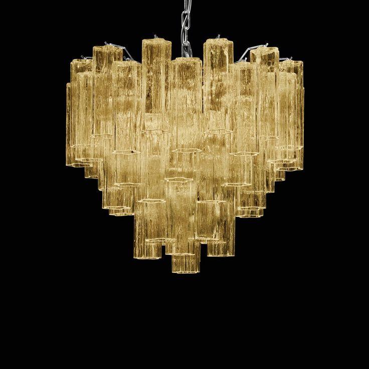 Crono | Tronchi Chandelier, Murano Glass Lighing