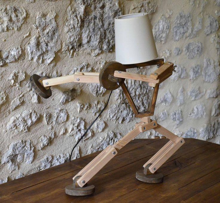 les 25 meilleures id es de la cat gorie lampe articul e sur pinterest lampe bois design. Black Bedroom Furniture Sets. Home Design Ideas