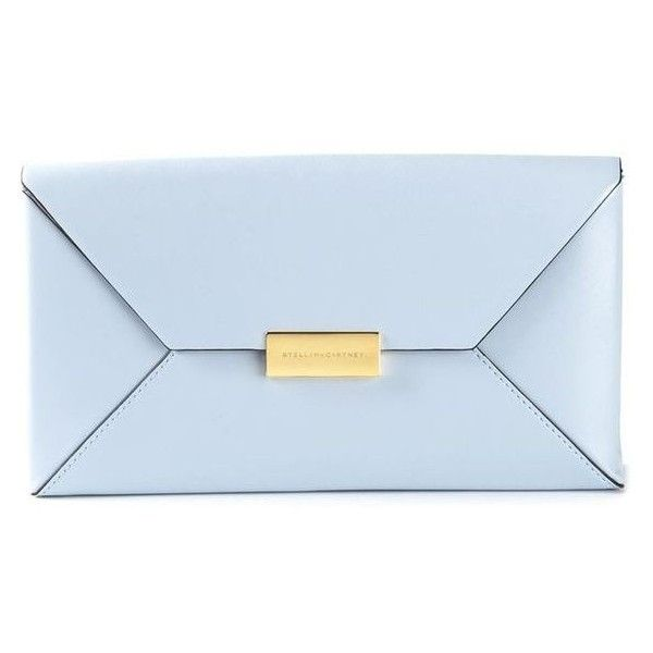 Stella McCartney 'Becket' clutch ❤ liked on Polyvore featuring bags, handbags, clutches, blue purse, blue clutches, stella mccartney purse, leather purses and genuine leather purse