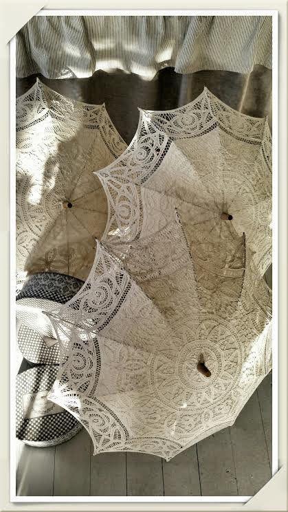 Inspiration i vitt: Solparaply i spets