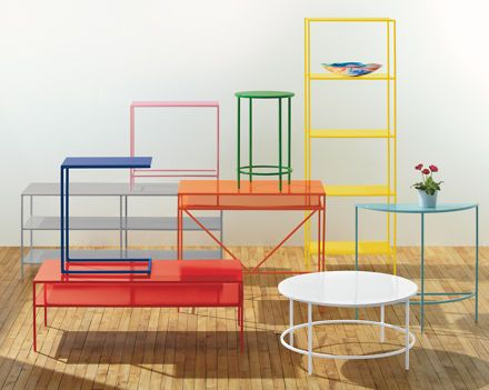 Slim bookcases in colors powder furniture and small rooms for Room board furniture