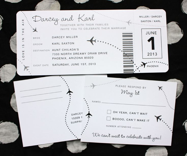Cruise Wedding Invitation with nice invitations example