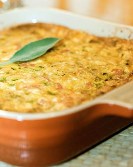 Sausage, sage and cheesy egg casserole. Re-pin and enjoy!