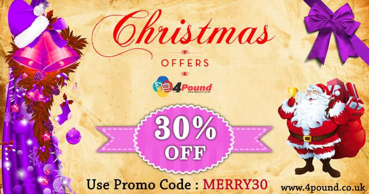 Gear up on #Christmas_Deals with up to 30% off on #Christmas products.  Order Online now : http://www.4pound.co.uk/christmas Free Shipping over £10.