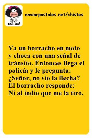 Chiste Un borracho en moto | Chistes de Texto para Enviar o Compartir por Whatsapp