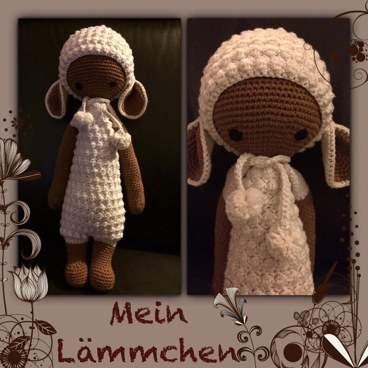 LUPO the lamb made by Katrin B. / crochet pattern by lalylala