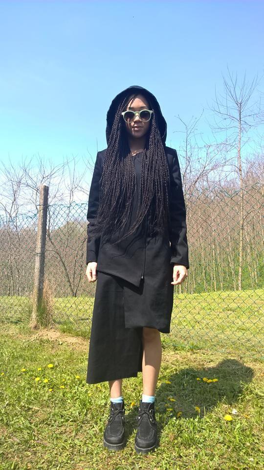 University Project LBD 2 in 1 dress, Assymetrical, Black Designer: elle P.