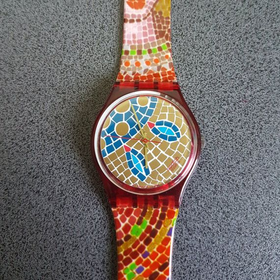 1990 Vintage Swatch Watch, Mosaiques collection. Ravenna. Abstract and Special model of a Swatch Watch    Tags : swatch watches women, vintage swatch watches, 80's swatch watches, swatch watches silver, swatch watches 2016, mens swatch watches, swatch watches irony, swatch watches chrono, swatch watches automatic, black swatch watches, swatch watches scuba, swatch watches classic, swatch watches for men, swatch watches retro, swatch watches orange,