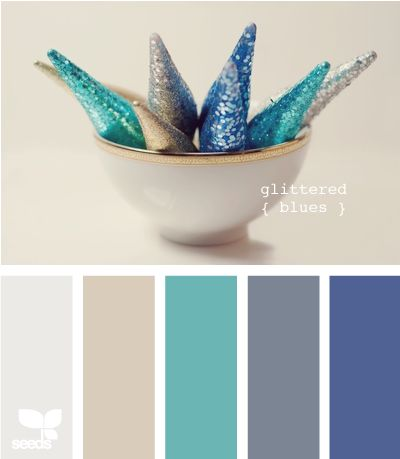 Glittered blues palette: Design Seeds, Winter Colors, Bedrooms Colors, Colors Combinations, Colors Palettes, Colors Pallette, Colors Schemes, Colour Palettes, Glitter Blue