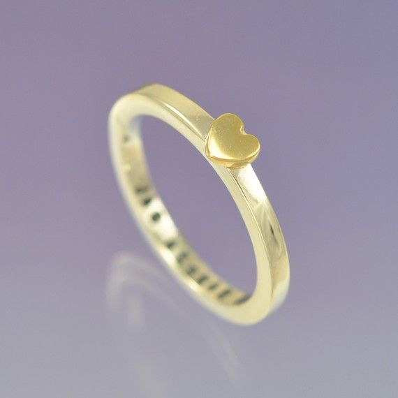 Sweet, sweet, sweet.: Yellow Gold, Cute Simple Rings, Heart Rings, Heart Atopic, Wedding Rings, Peaches Necklaces, White Gold, Gold Heart, Sterling Silver Rings
