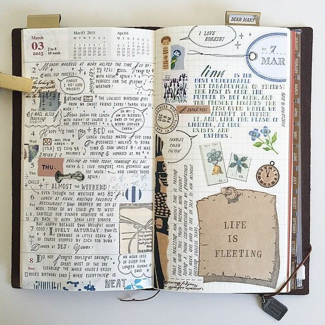 TRAVELER'S NOTEBOOK - PINNED NOTE PAPER
