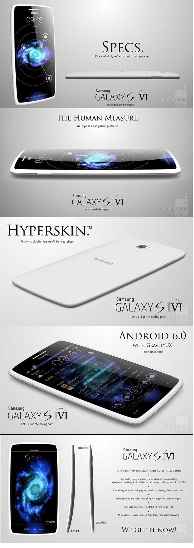 Concept Samsung Galaxy S6 #android #Samsung #galaxys6