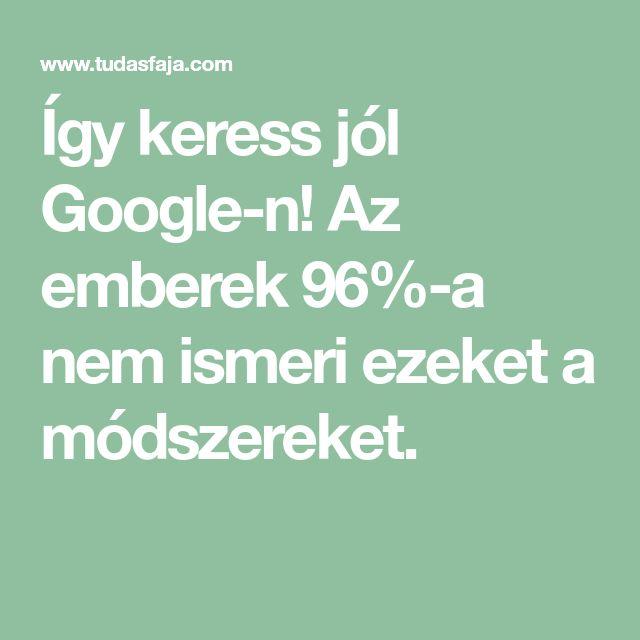 Így keress jól Google-n! Az emberek 96%-a nem ismeri ezeket a módszereket.