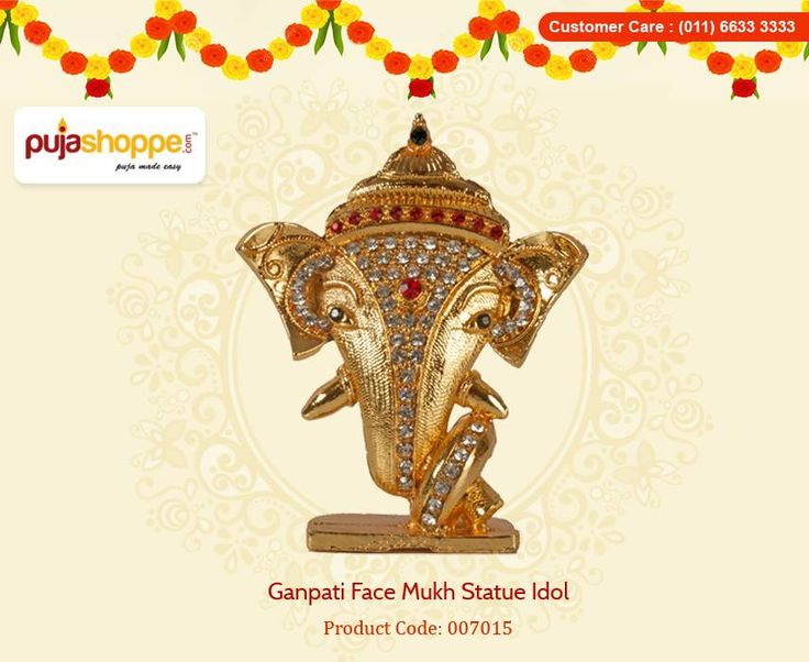 Get Online #GanpatiFaceMukhStatueIdol at PujaShoppe.You can use this figure anywhere. Its look excellent in your car dashboard, home or office table decor. Best for gift. You can use this figure in decorative purpose.Shop now: https://www.pujashoppe.com/ganpati-face-mukh-statue-idol.html?___SID=U