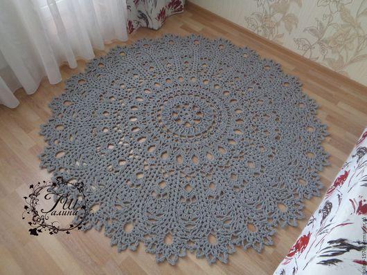 Текстиль, ковры ручной работы. Хлопковый вязаный ковер