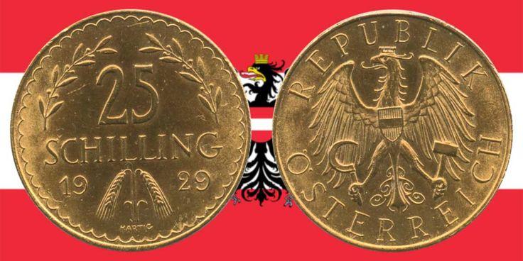 die 25 schilling goldm nze 1926 1934 gold coins. Black Bedroom Furniture Sets. Home Design Ideas