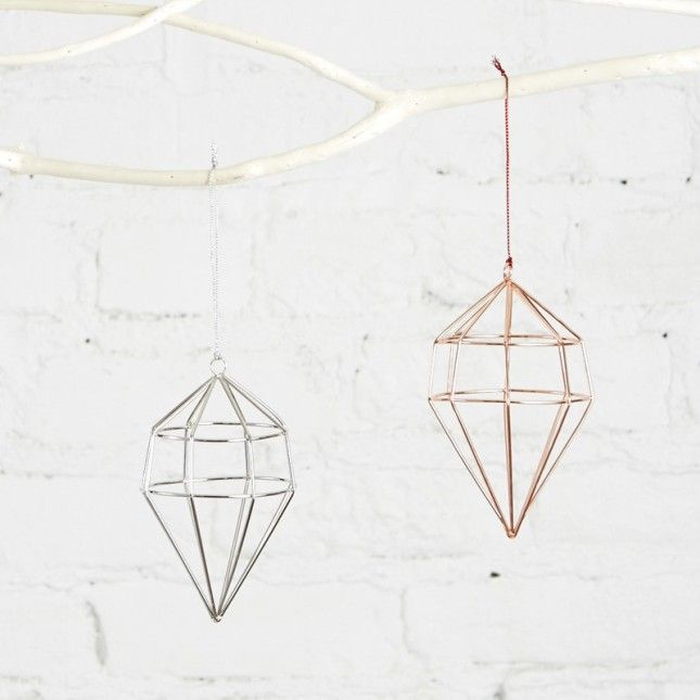 Up your decorating game with these geometric ornaments.