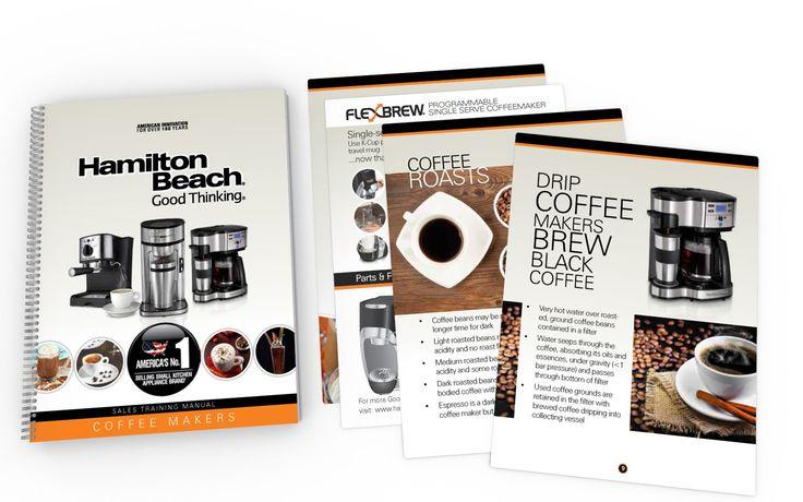 Sales Training Booklet (Coffee Maker) Design for HAMILTON BEACH BRANDS (USA)