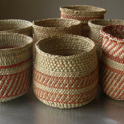 Iringa Basket by Linda Ferrol Studio -  multi use for markers/pens, little waste basket.