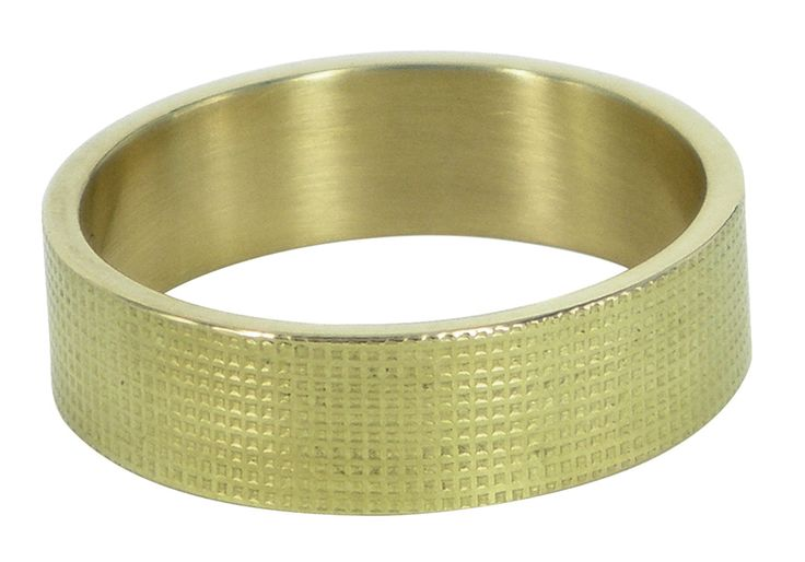 Closed textured wedding ring in yellow gold