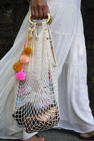 Бабушкина авоська на новый лад — и получается летняя сумка в тренде сезона!