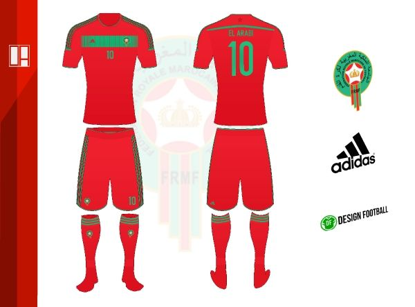 Morocco Home Kit #OA - World Cup Competition