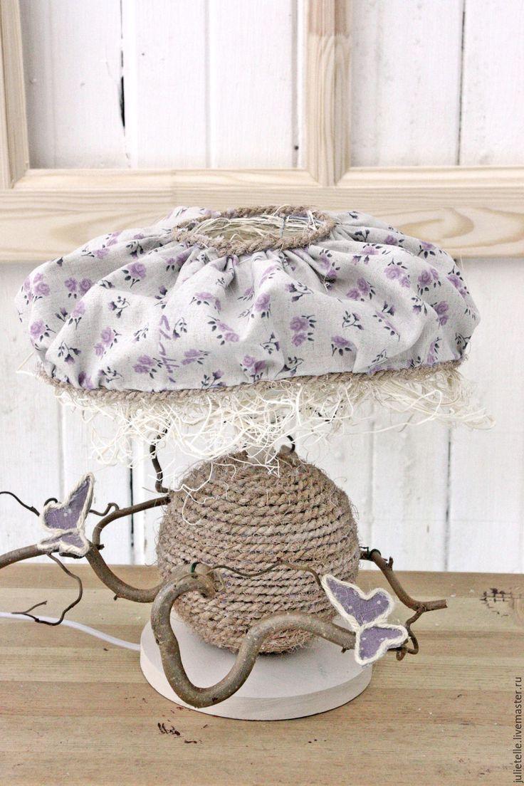 Купить Светильник ручной работы - сиреневый, декор для дома, украшение спальни, светильник, цветочный декор