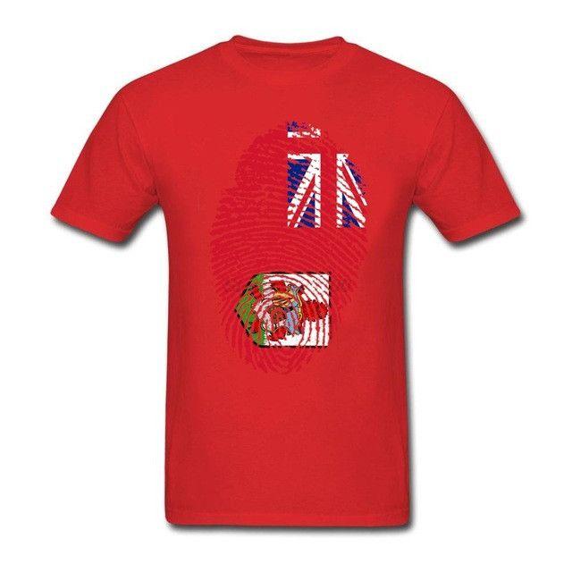 Bermuda Flag Fingerprint Men's T-Shirt