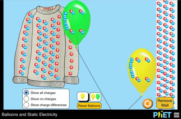 Balloons and Static Electricity Screenshot - Interactivity