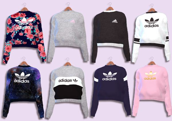 Adidas Sweaters Collection Female Teen – Young – Adult – Elder HQ Mod compatible…