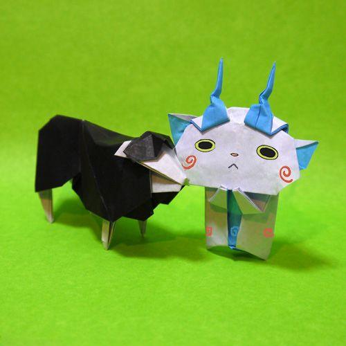 折り紙 妖怪ウォッチ コマさん 年賀状