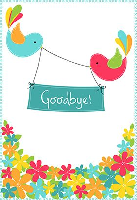 """""""Goodbye from your colleagues"""" printable card. Customize, add text and photos. print for free!"""