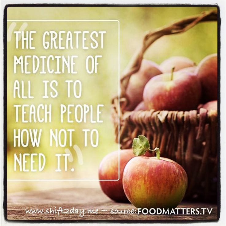 """The greatest medicine of all is to teach people how not to need it."" ~ foodmatters   #foodmatterstv #shift2day    ^ Look great, feel fabulous & great for your health  ^Start the shift today ~ and feel great!  :)  www.shift2day.me"