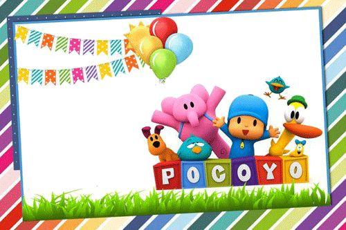 Invitaciones de cumpleaños de pocoyo-Imagenes y dibujos para imprimir
