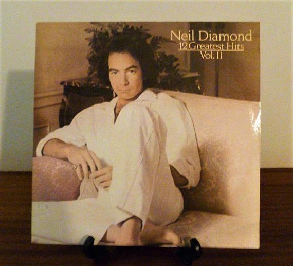 """$15  Vintage 1982 Neil Diamond """"12 Greatest Hits, Volume II"""" Vinyl LP Album Released by CBS Records / Retro Compilation Album"""