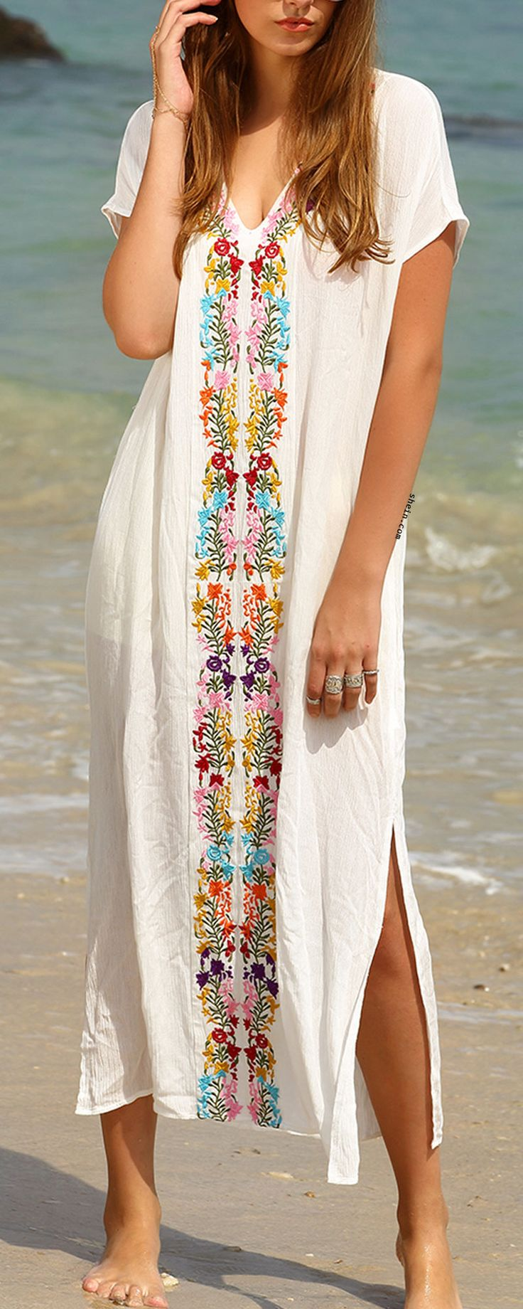 Beautiful & gorgeous embroidery dress! Catch it for vocation!