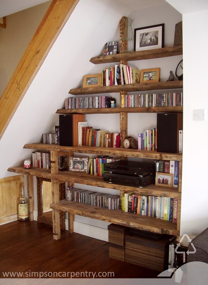 reclaimed timber shelving by Richard Simpson