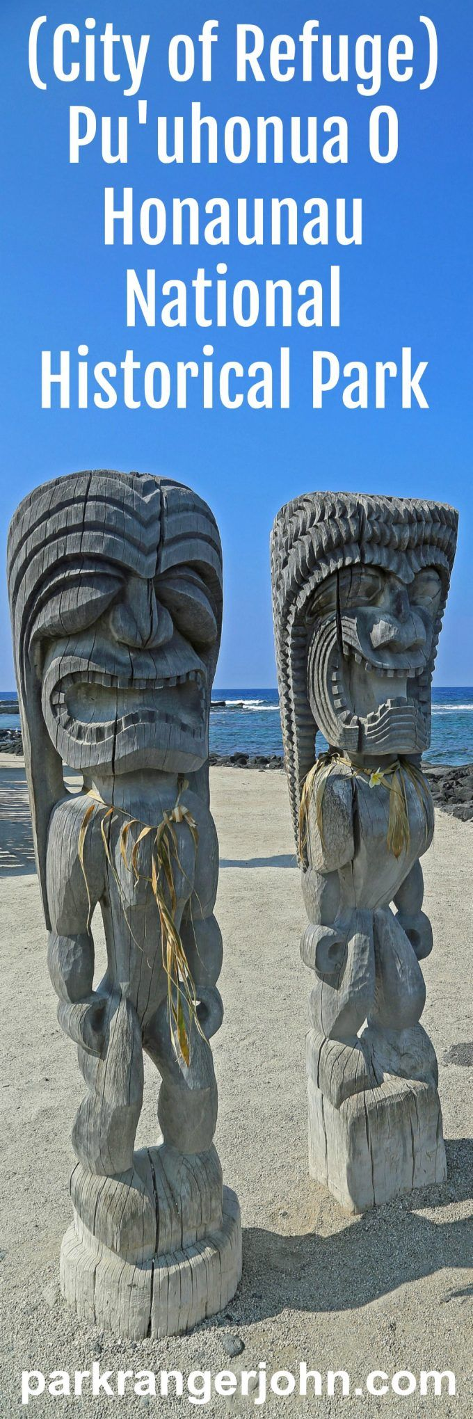Pu'uhonua O Honaunau, also known as The City of Refuge Hawaii is a National Historic Park. THis is a sacred place for Hawaiians and takes you into the culture of Hawaii