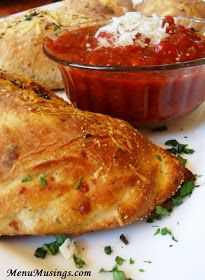 Menu Musings of a Modern American Mom: Italian Sausage Calzones with Homemade Marinara