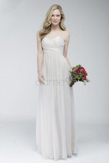 Schwangere Chiffon gefaltetes elegantes & luxuriöses volle länge ärmelloses Brautjungfernkleider