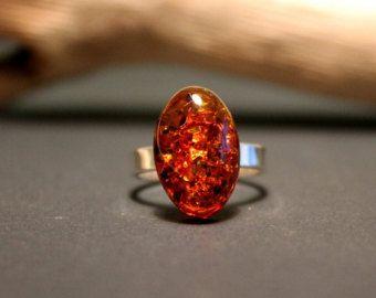 Anillo de ámbar joyas de ámbar ámbar báltico por AmberDesign8