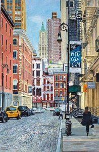 Tiendas Pintura - Pearl Paint Canal St. Desde Mercer St. Nyc por Anthony Butera