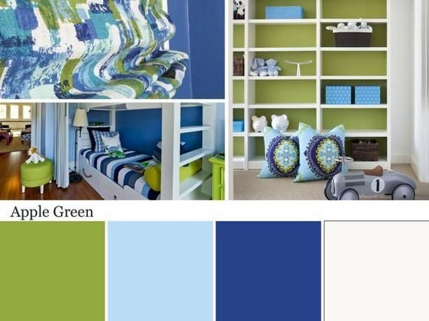rich and light blue and green colors for modern interior decorating