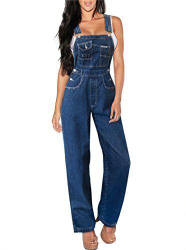 cf286c61b0bb Revolt Women s Plus Size Denim Jean Blue Overalls PVJ6107X DARK WASH ...