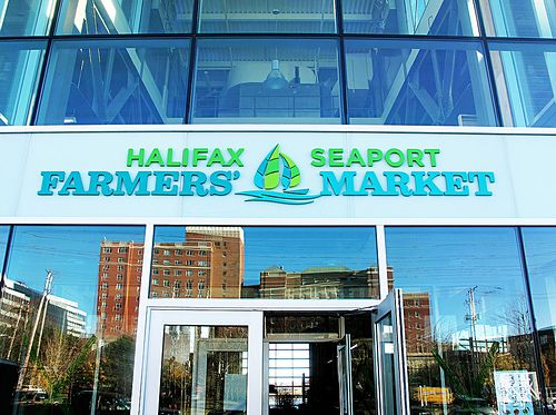 Wondering what this building is? Wonder no longer.......it is our new Halifax Seaport Farmer's Market, a beautiful glass structure built to environmental standards and using solar, wind and geo-thermal power to operate. A massive 4,050 square metres, it was designed with the environment in mind. It is also located right on the water so you can watch all the boating activity on the harbour.